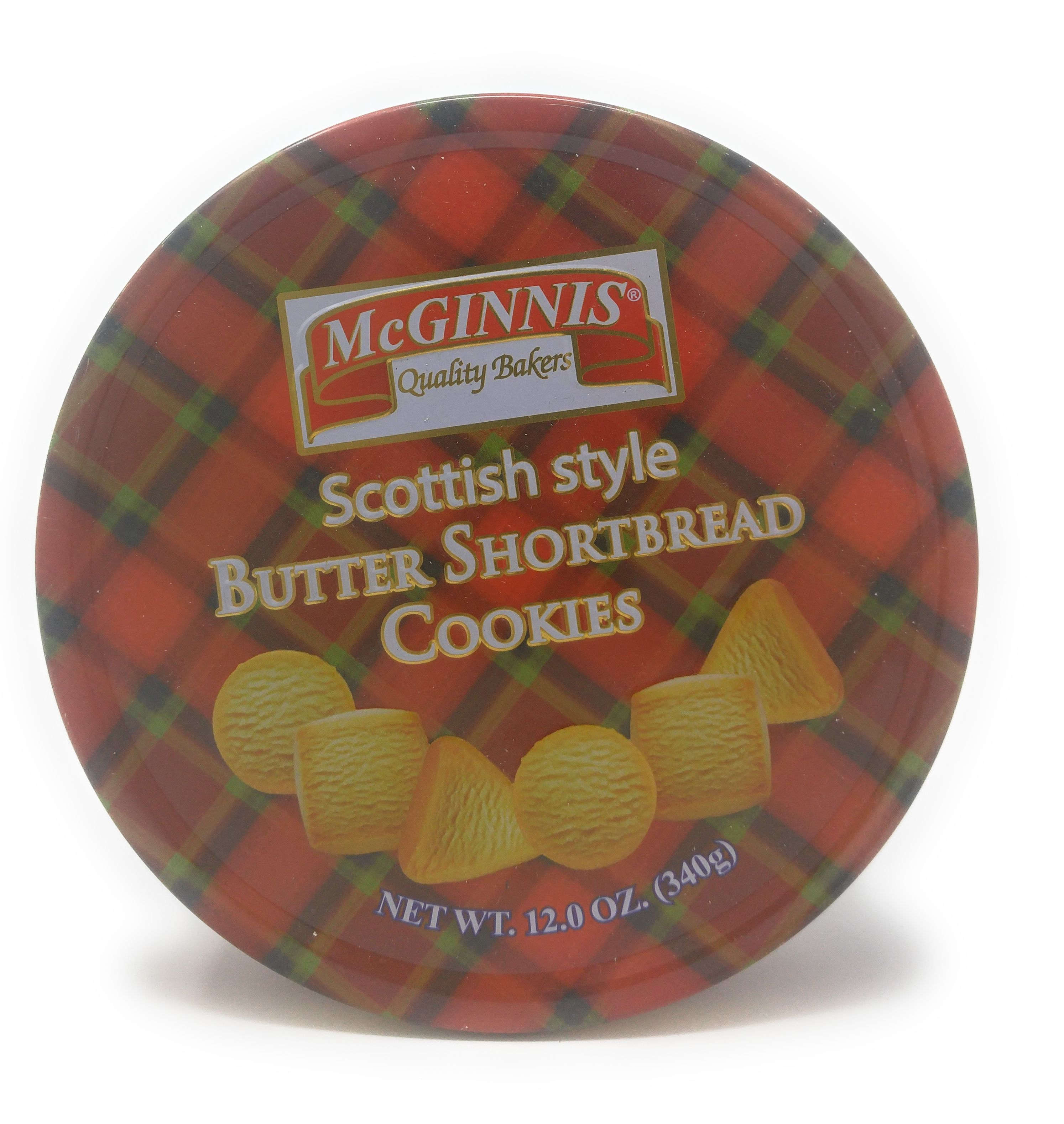 McGinnis Scottish Sytle Butter Shortbread Cookies (12 Oz.) 40 Cookies by Allied Internation Foods