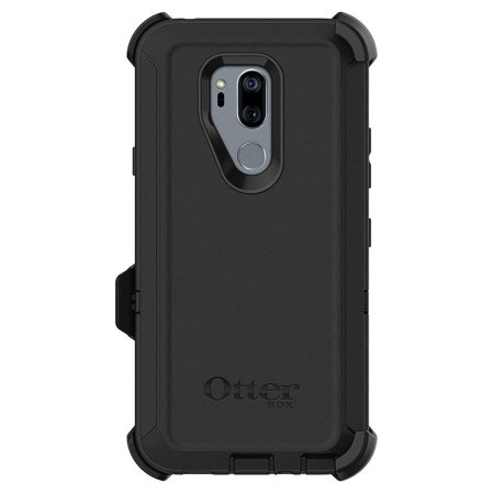 (Refurbished) OtterBox DEFENDER SERIES Case & Holster for LG G7 ThinQ - Black ()