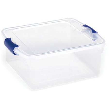Homz 15 5 Qt Latching Clear Storage Boxes  Set Of 4