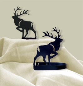 Village Wrought Iron CUR-TB-201 Elk Tie Backs