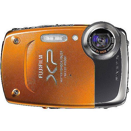 "Fuji FinePix XP20 Orange 14MP Digital Camera w/ 5x Optical Zoom, 2.7"" LCD Display"
