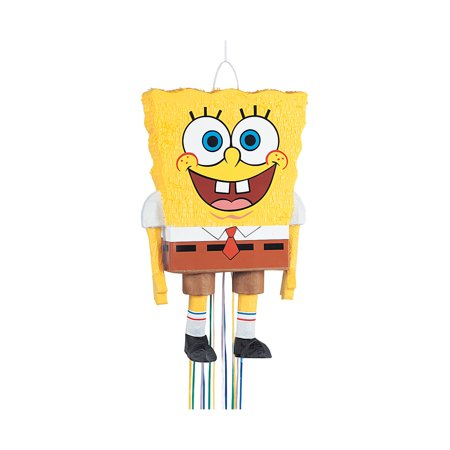 SpongeBob SquarePants Pinata, Pull String, 23 x 14 in, - Sponge Bob Party