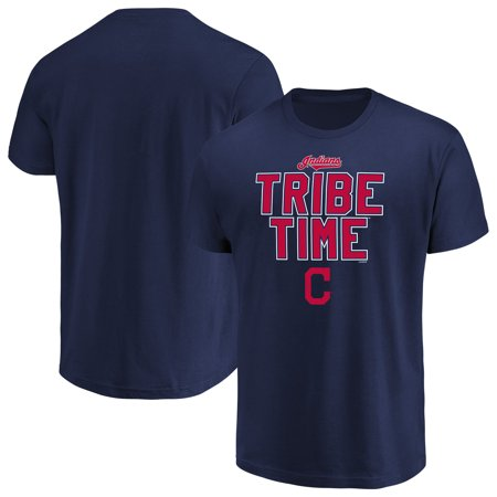 Men's Majestic Navy Cleveland Indians Alias (Cleveland Indians T-shirt)