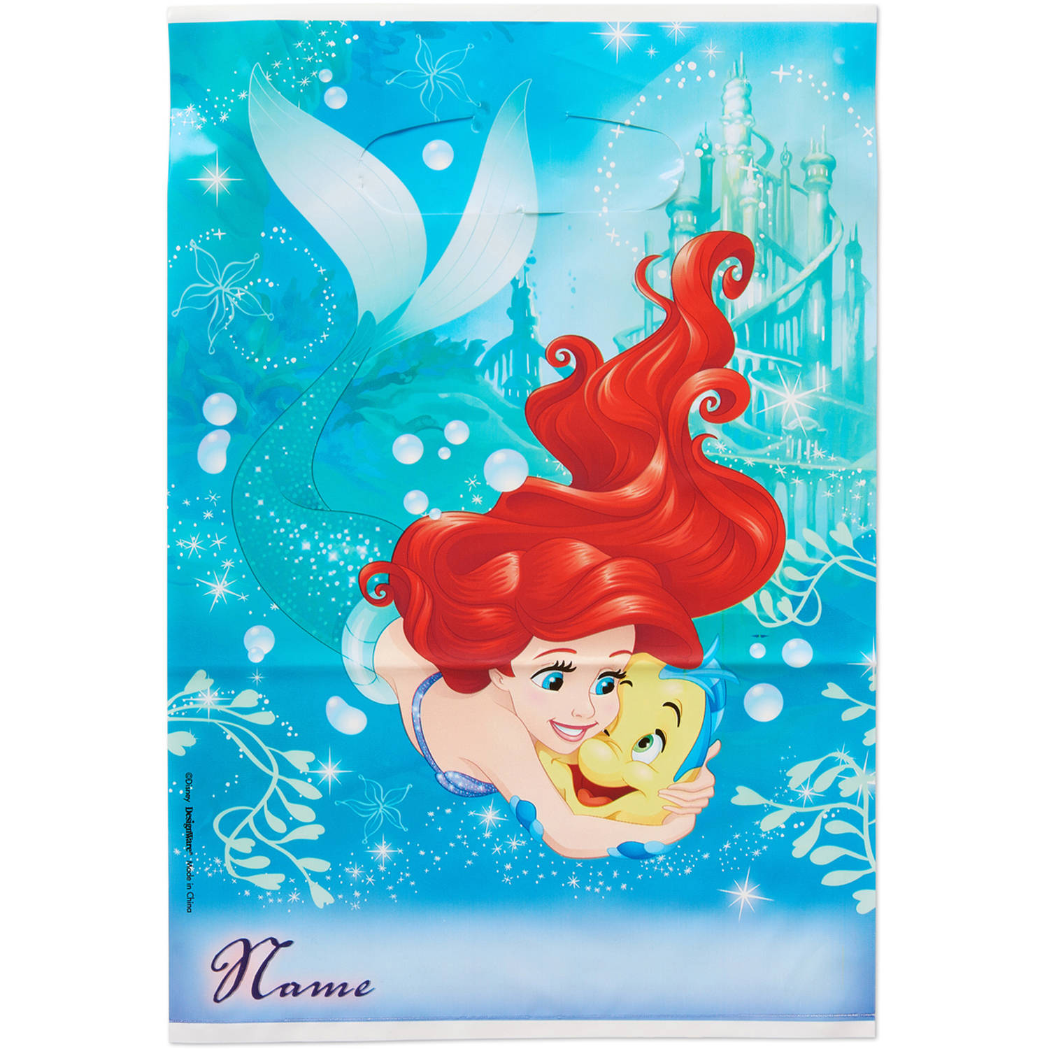 The Little Mermaid Party Favor Treat Bags, 6.5 x 9.25 in, 8ct