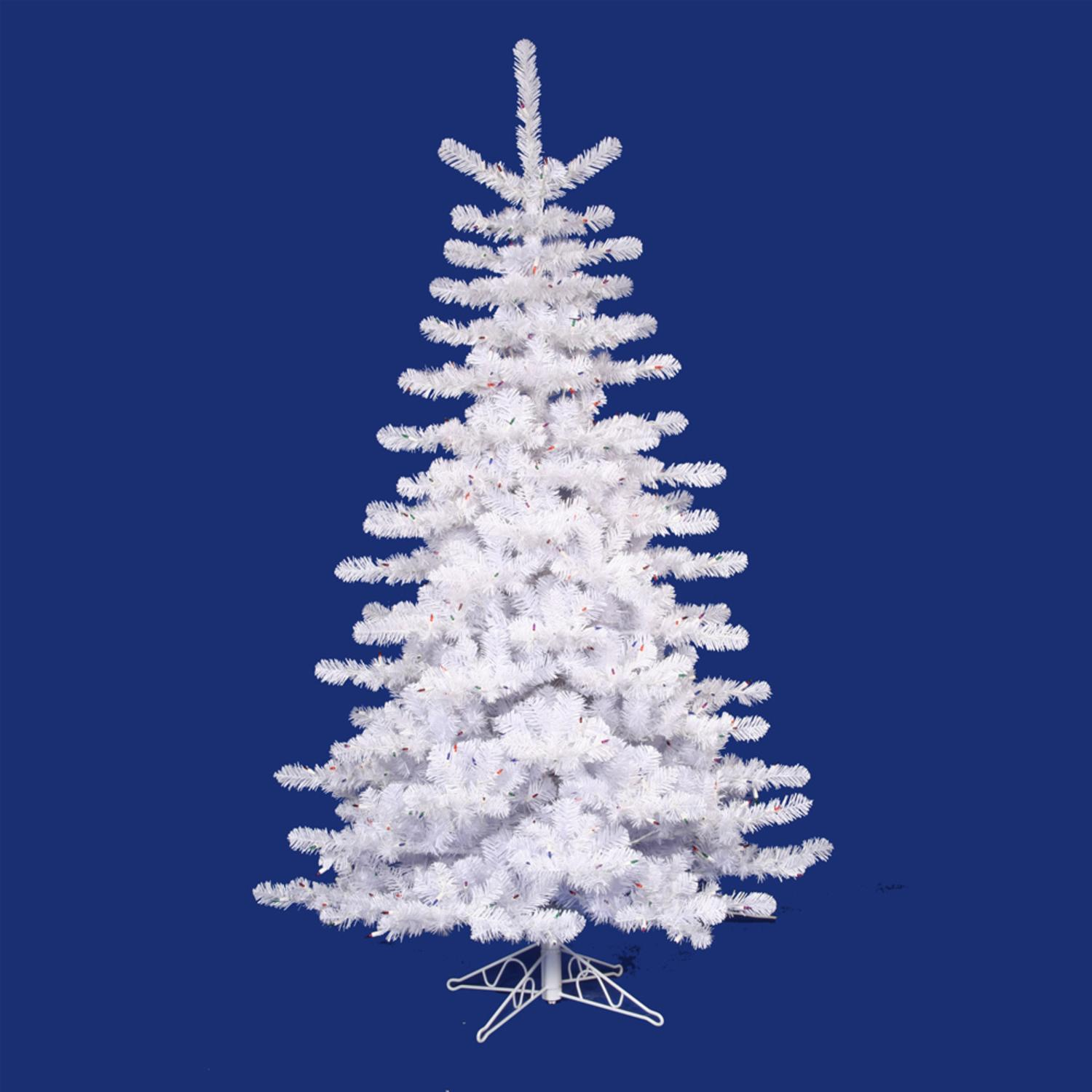 12 Pre Lit Crystal White Artificial Christmas Tree Clear Lights