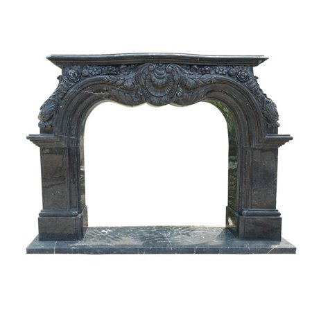 AFD Home 12008119 17171 50 x 43 in. Fireplace Mantel, Black (Maple Fireplace Mantel)