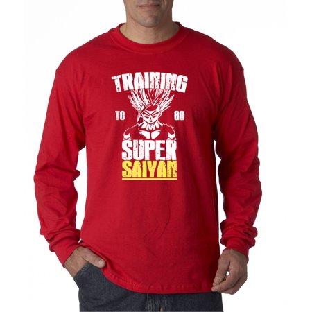 636 - Unisex Long-Sleeve T-Shirt Training To Go Super Saiyan Dragon Ball Z Dbz