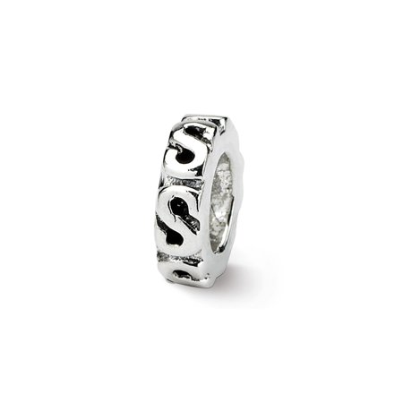 - Sterling Silver Reflections Swirl Spacer Bead