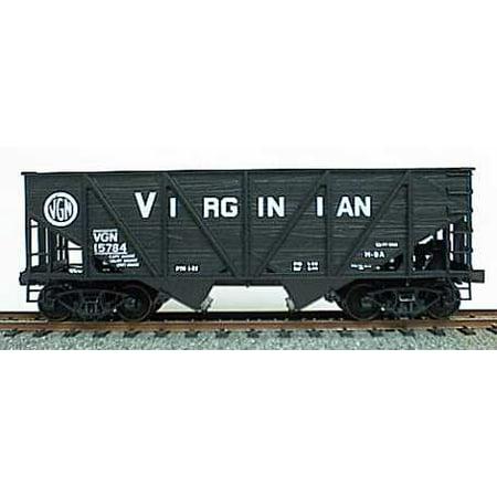 Accurail 2707 HO Virginian (black) Twin Hopper 55 Ton Wood Side