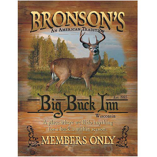 Personalized Unframed Big Game Canvas- 11x14 (Available with Buck, Bass, Bear or Moose Image)