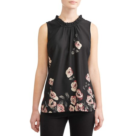 Women's Chiffon Sleeveless (Printed Georgette Sleeveless Top)