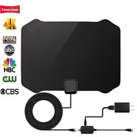 [2019 Newest] HDTV Antenna - Indoor Digital 50 Mile Range 4K HD VHF UHF Freeview Television Local Channels w/ Detachable Signal Amplifier and 13ft Coax Cable