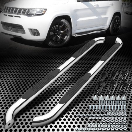for 11-18 Grand Cherokee Black Stainless Steel Side Step Nerf Bar Running