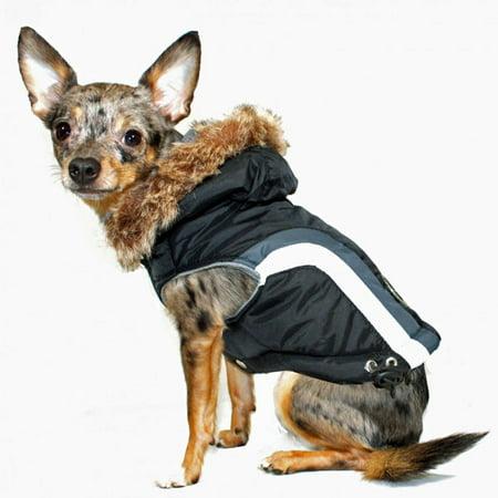 Swiss Alpine Ski Dog Vest by Hip Doggie - Black - X-Large