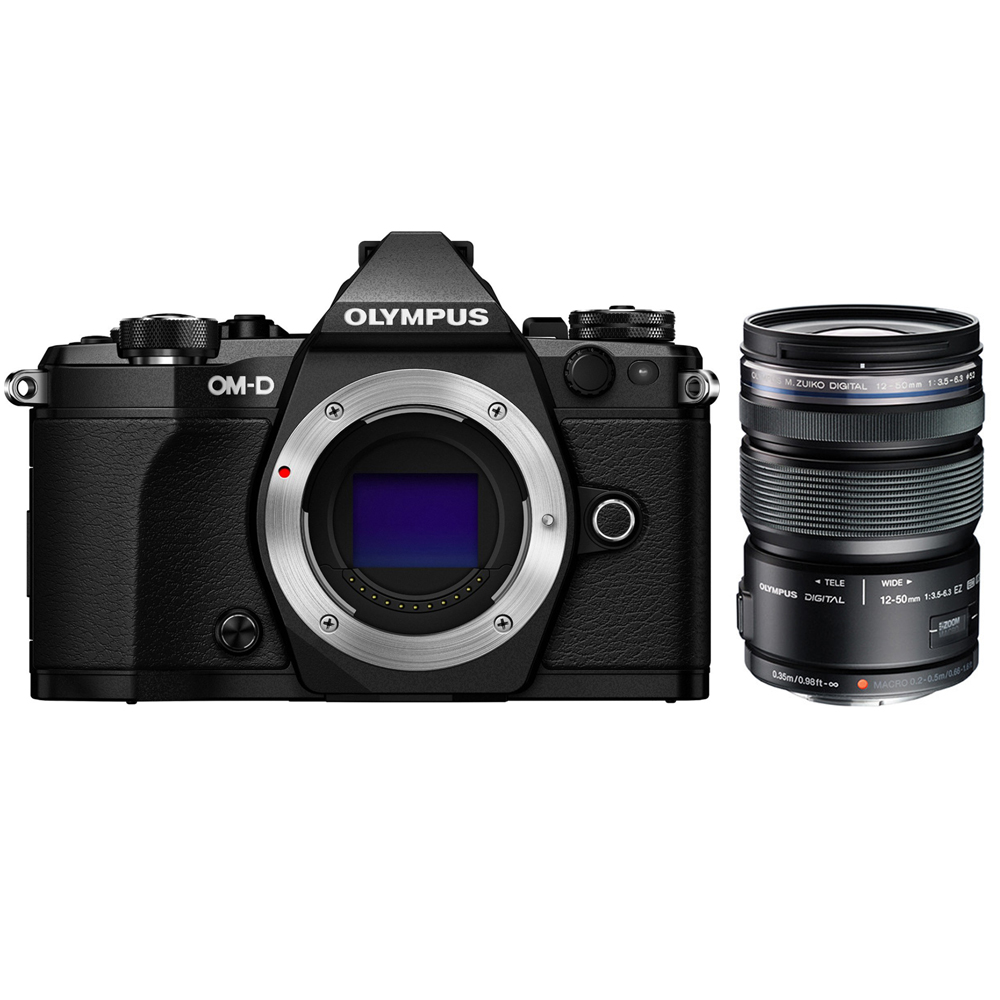 Olympus OM-D E-M5 Mark II Micro Four Thirds Digital Camera Body Only Black (V207040BU000) with Olympus M.ZUIKO... by Olympus