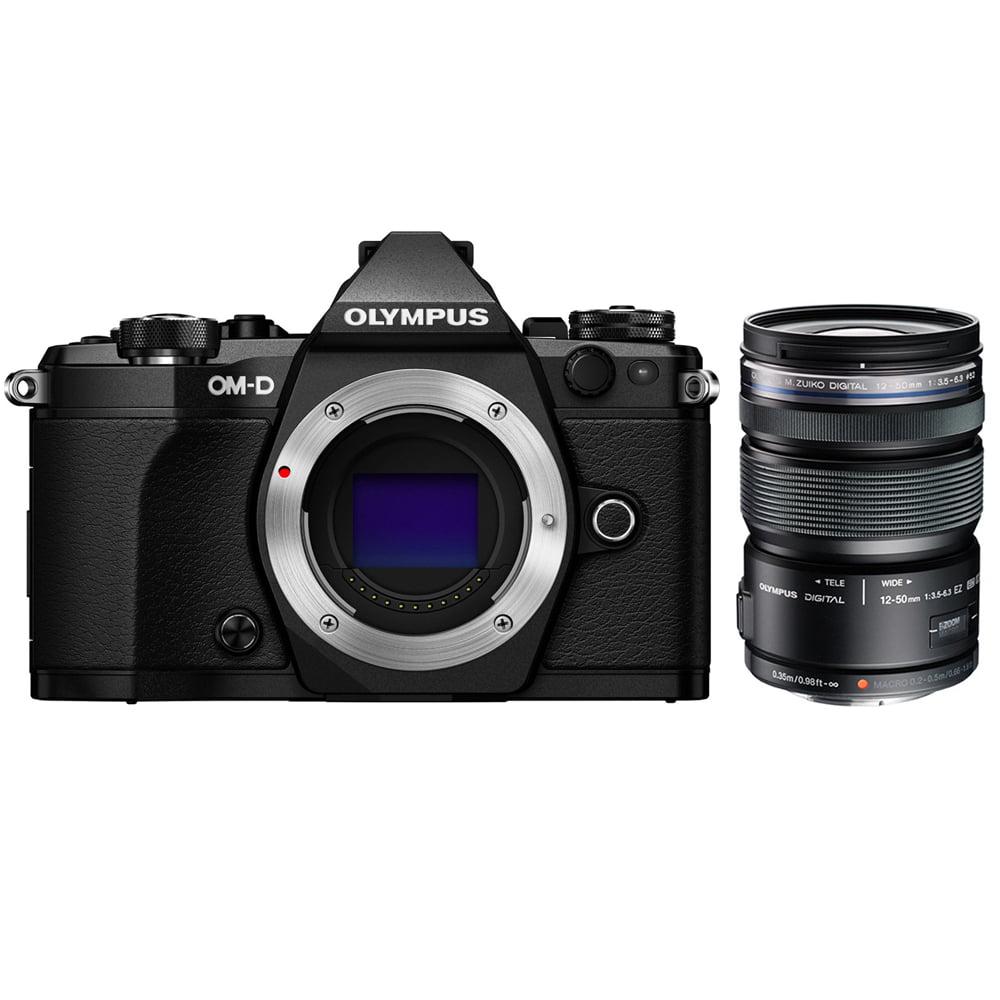 Olympus OM-D E-M5 Mark II Micro Four Thirds Digital Camera Body Only Black (V207040BU000) with Olympus M.ZUIKO... by Olympus