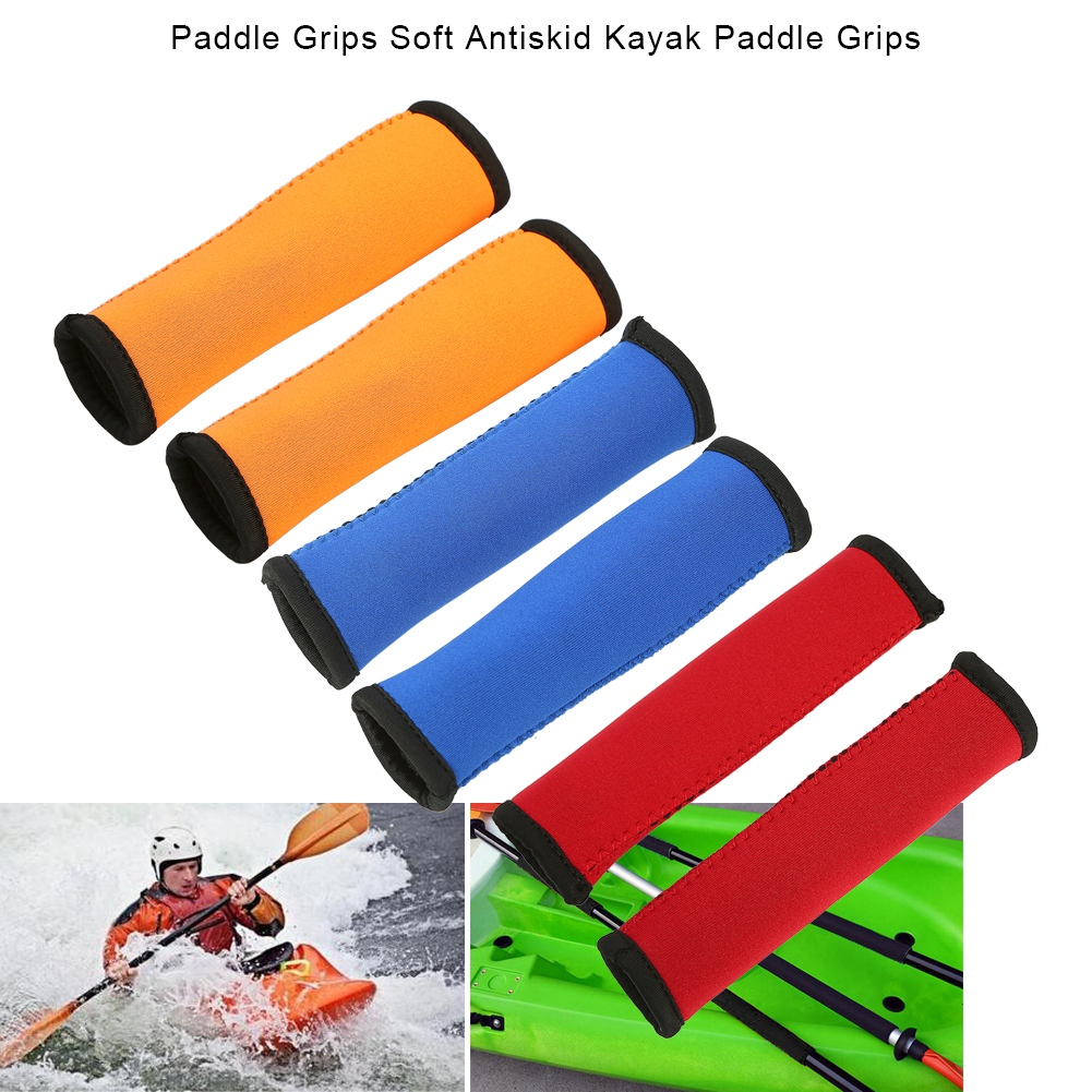 Tbest 2pcs 3 Colors 15cm Diving Fabric Kayak Paddle Grips Prevent Blisters and Callus, kayak paddling grips, kayak paddle accessories