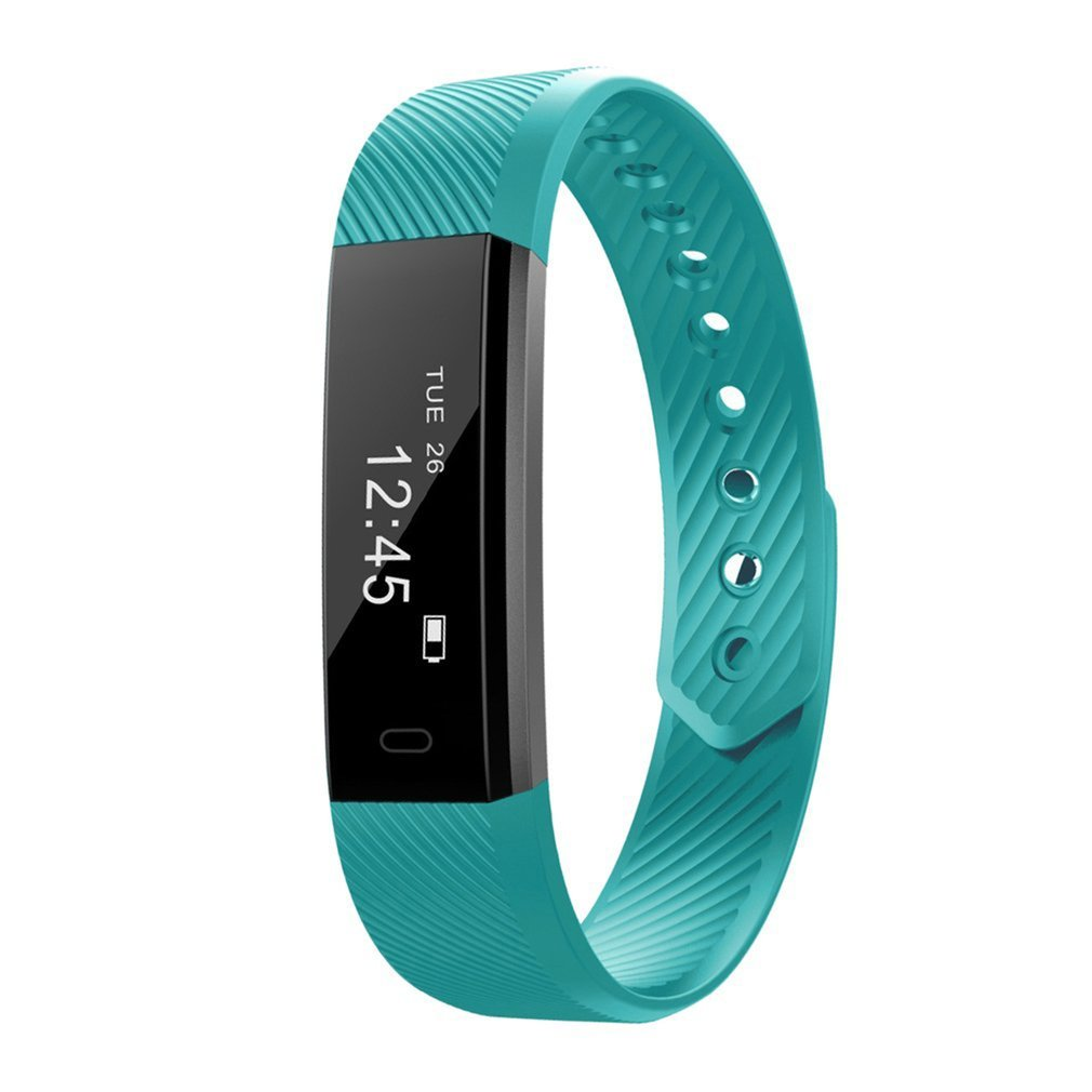 ID115 Smart Bracelet Heart Rate Monitor Fitness Tracker Bluetooth Band Alarm Clock