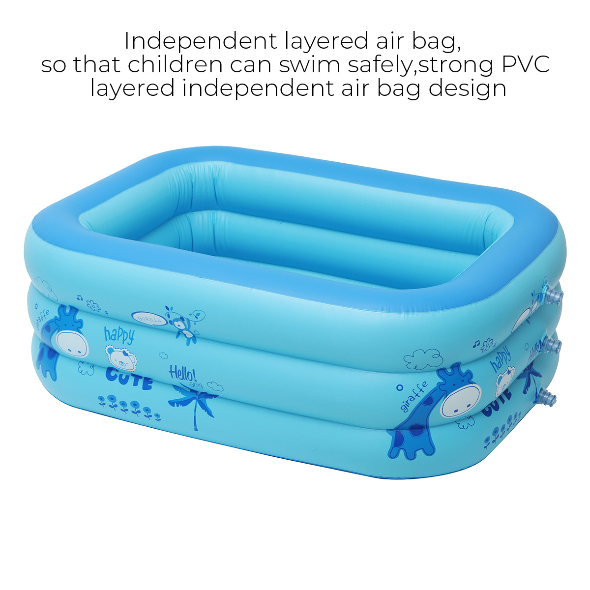 43-120inch Household Adult Childrens Inflatable Swimming Pool Indoors Outdoors Paddling Pool Suitable for 1-7people