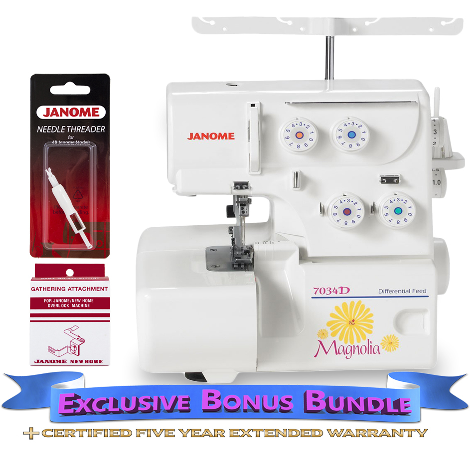 Janome 7034D Serger with Exclusive Bonus Bundle