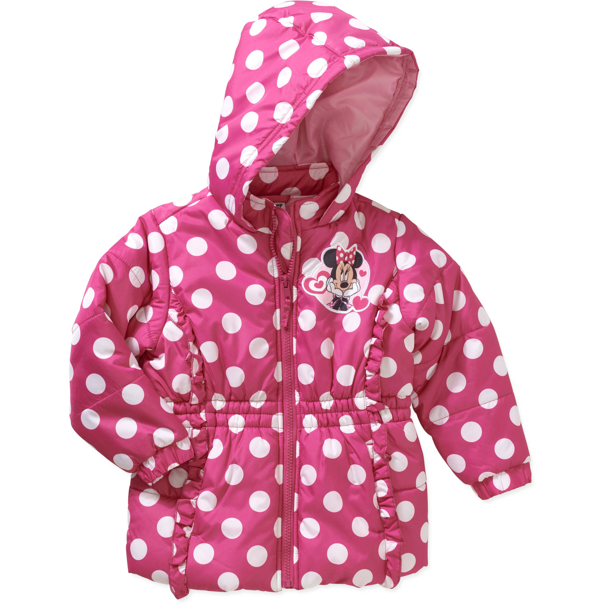Minnie Mouse Toddler Girl Hooded Puffer