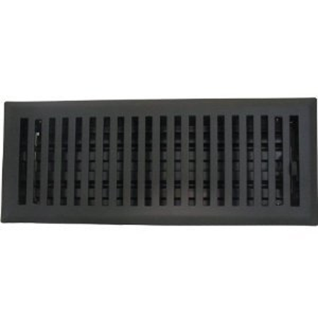 "2"" X 12"" Contemporary Flat Black Floor Register / Vent Cover"