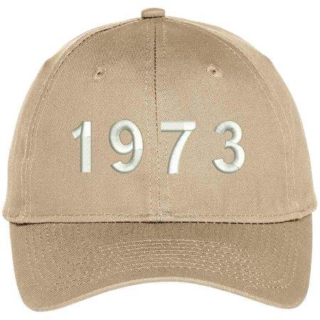 1973 Baseball - Trendy Apparel Shop 1973 Birth Year Embroidered Baseball Cap