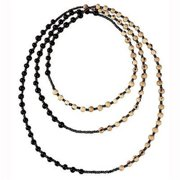 Faire Collection Colorblock Rope Necklace, Soft Gray & Ultraviolet