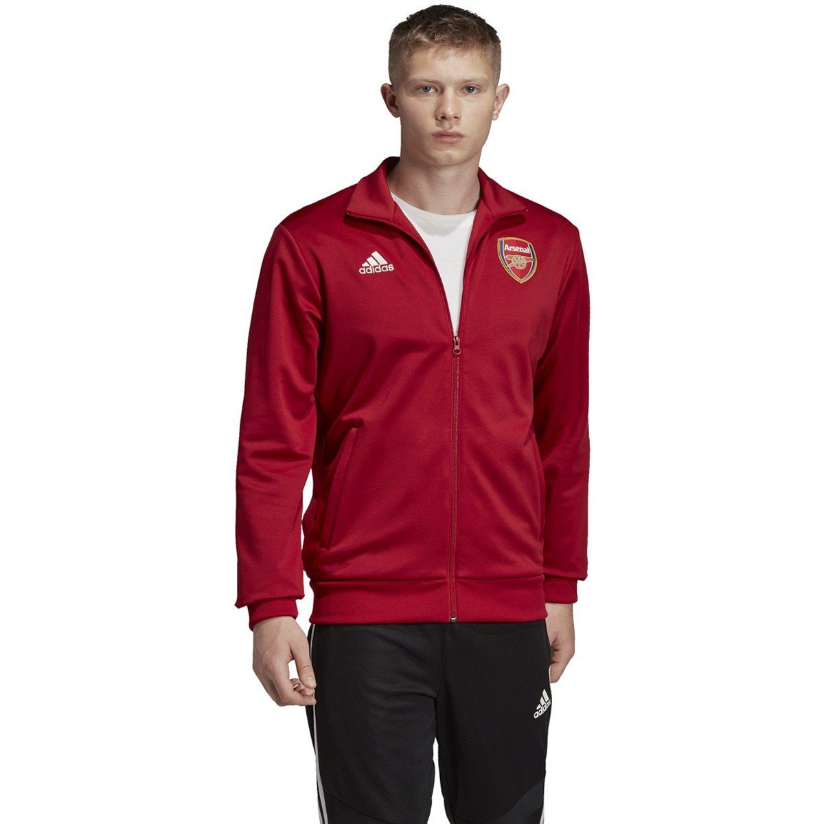 sueño Sentirse mal combinación  Adidas - adidas Men's 2019-2020 Arsenal 3 Stripe Track Jacket | EH5623 -  Walmart.com - Walmart.com