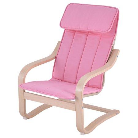 Costway kids armchair children leisure lounge wood home for Kids pink armchair
