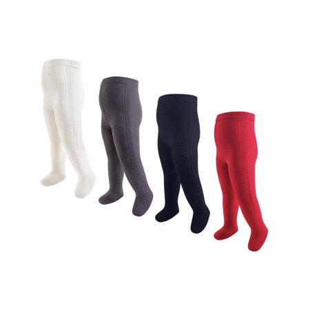 Cable Knit Cotton Tights 4pk (Baby Girls) Cable Knit Cotton Tights