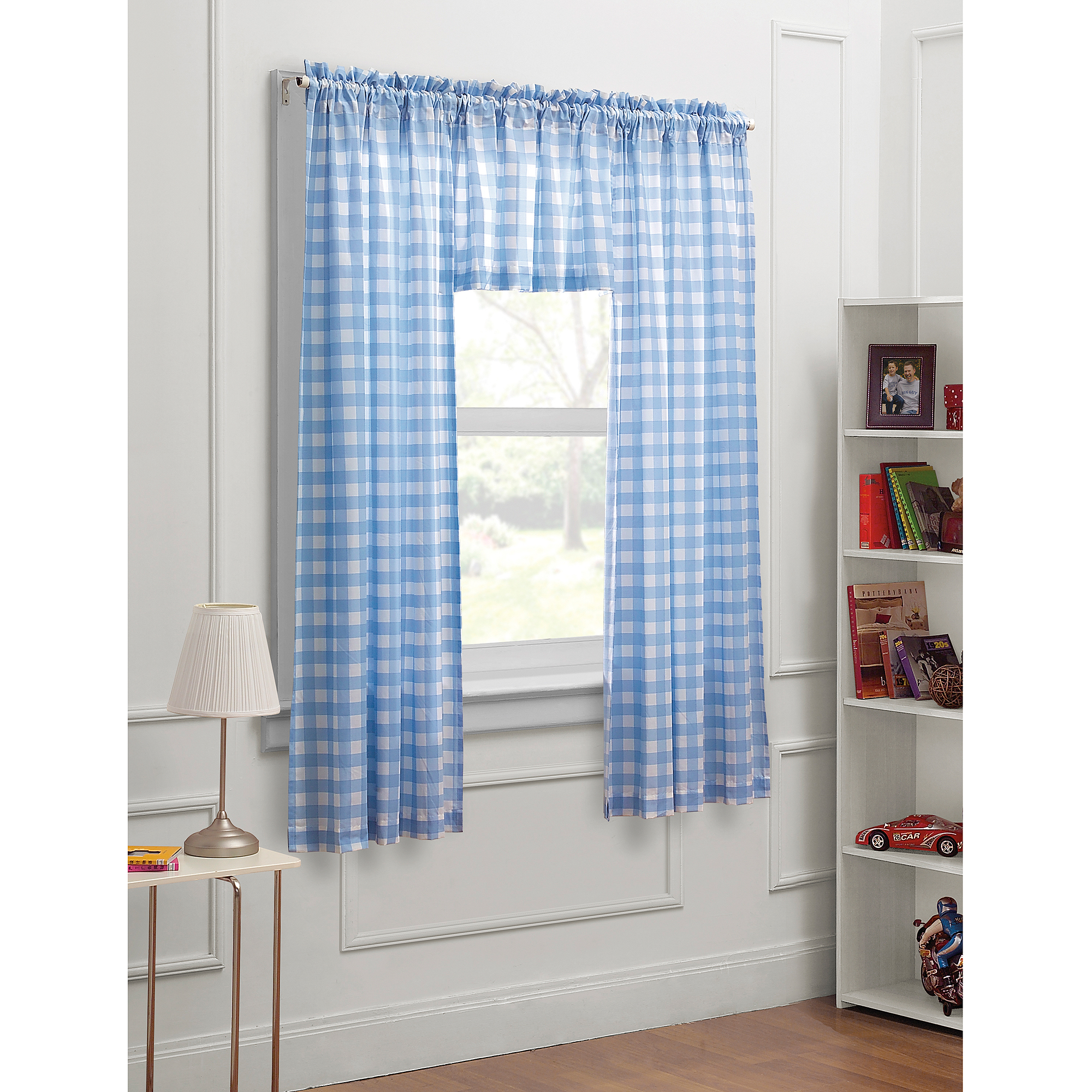 """Dream Factory Trains and Trucks 3-Piece 63"""" Boys Bedroom Curtain Panel Set by Generic"""