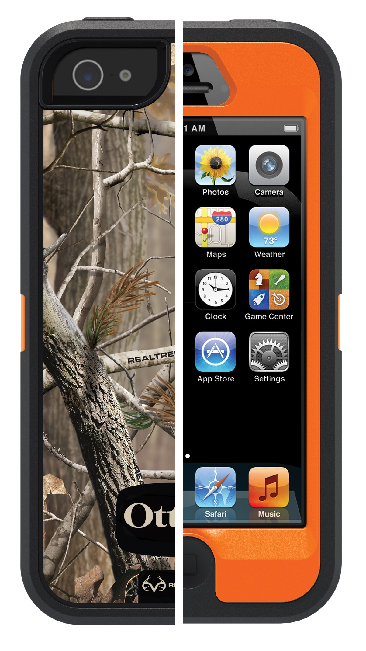 Refurbished Otter Box 77 51844 Defender Series Iphone 5 5s Se Orange Camo Com