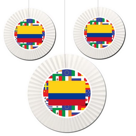 Partypro TQP-5453 Colombia Fan Decorations for $<!---->