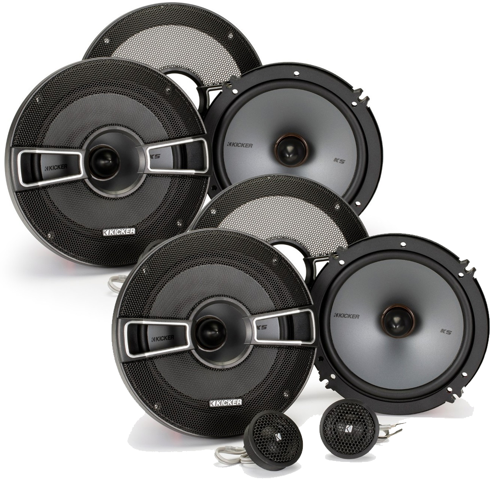Kicker Speaker Bundle - Two pairs of Kicker 6.5 Inch KS-Series Component Systems  41KSS654