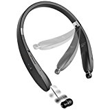 Neckband Wireless Bluetooth Headset w Retractable Earbuds...