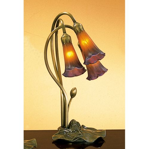 Meyda Tiffany 13595 Stained Glass   Tiffany Desk Lamp from the Lilies Collection by Meyda