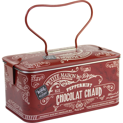 Rich and Dark Chocolate Peppermint Hot Cocoa in Gift Tin (10.2 ounce)