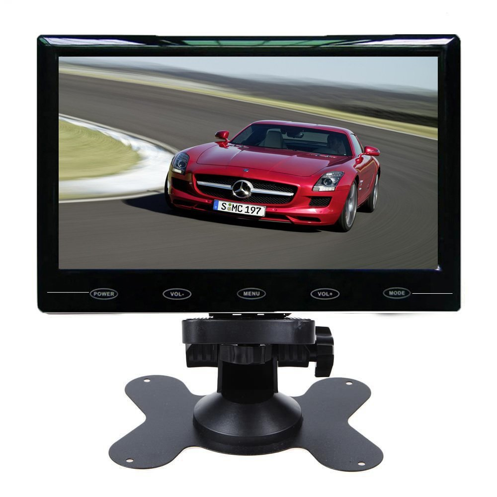 HD 7 Inch Ultra Thin TFT-LCD Color 2 Video Input Headrest Car Rear View Monitor