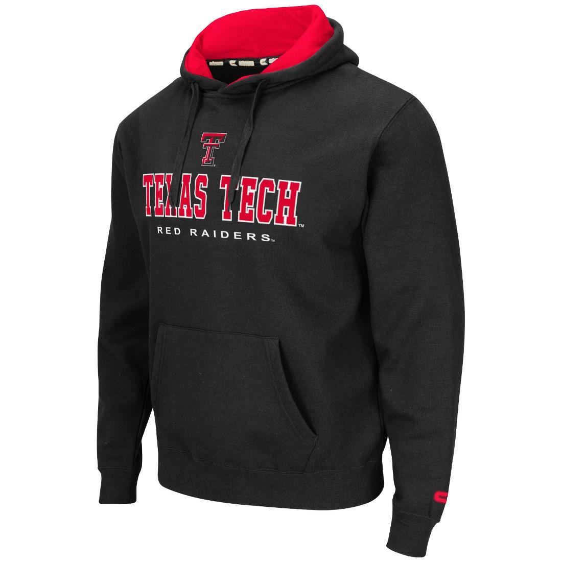 "Texas Tech Red Raiders NCAA ""Zone II"" Pullover Hooded Men's Sweatshirt - Black"