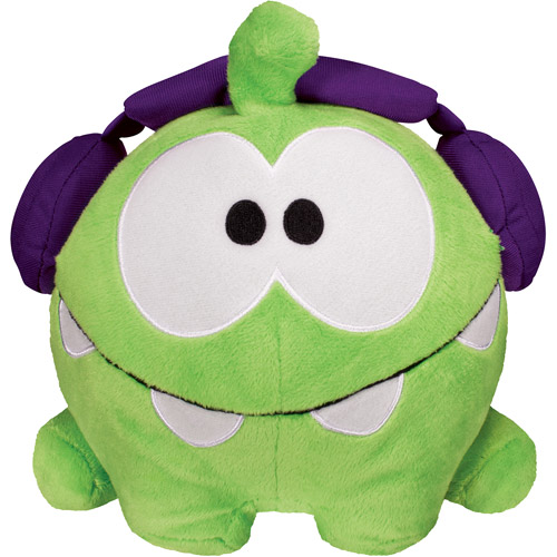 "Cut The Rope 8"" Plush with Sound, Jammin Dj Om Nom"