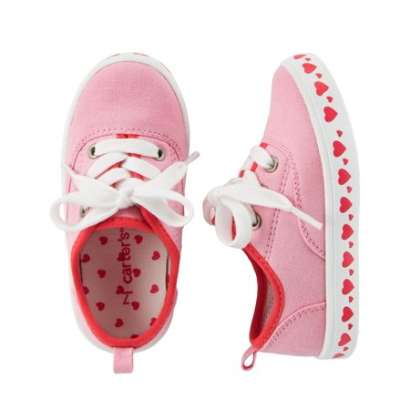 Carter's Little Girls' Casual Sneakers, Pink Hearts, 11 Kids](Pink Girls Shoes)