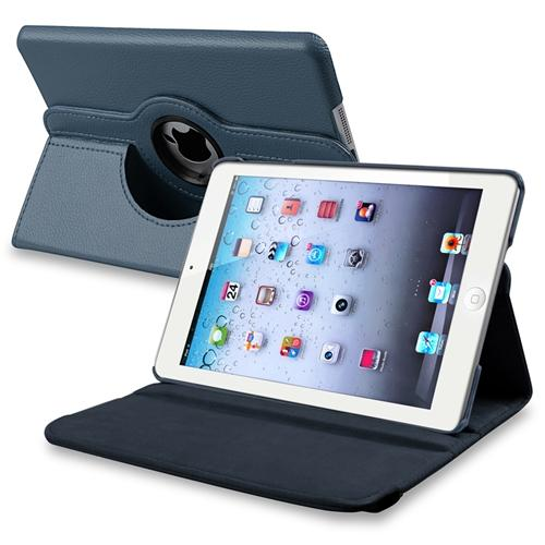 iPad Mini 3 / 2 / 1 Case, by Insten Navy Blue Flip Leather Multi Angle View Stand Case for Apple iPad Mini 3rd 2nd 1st