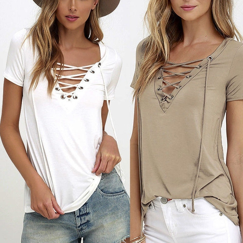 Womens Cold Shoulder Baggy Modal Shirt Blouse Ladies Casual Short Sleeve Tee Top