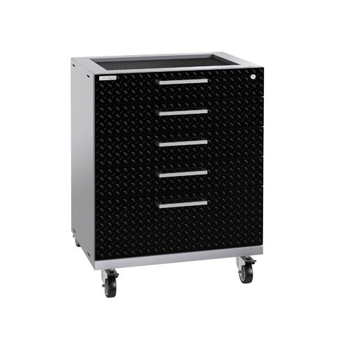 NewAge Products Performance Plus 2.0 Diamond Plate Black Tool Drawer Cabinet