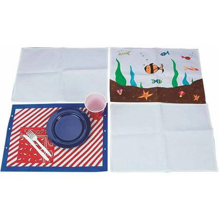 S&S Color-Me Canvas Placemats, 24pk