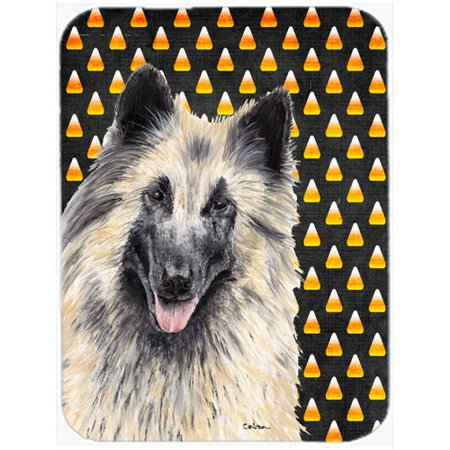 Caroline's Treasures Halloween Candy Corn Belgian Tervuren Portrait Glass Cutting Board (Broken Glass Candy Halloween)