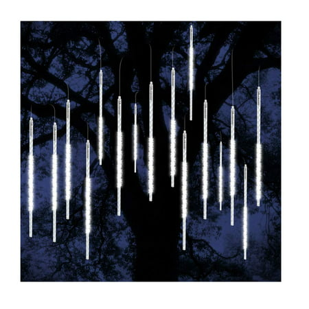 Halloween Icicle Lights Target (ohCome [New Version Meteor Shower Rain Drop Lights 50cm 10 Spiral Tubes 540 LEDs Waterproof Icicle Snowfall String Lights for Wedding Christmas Xmas Halloween Garden Tree Home Decor)