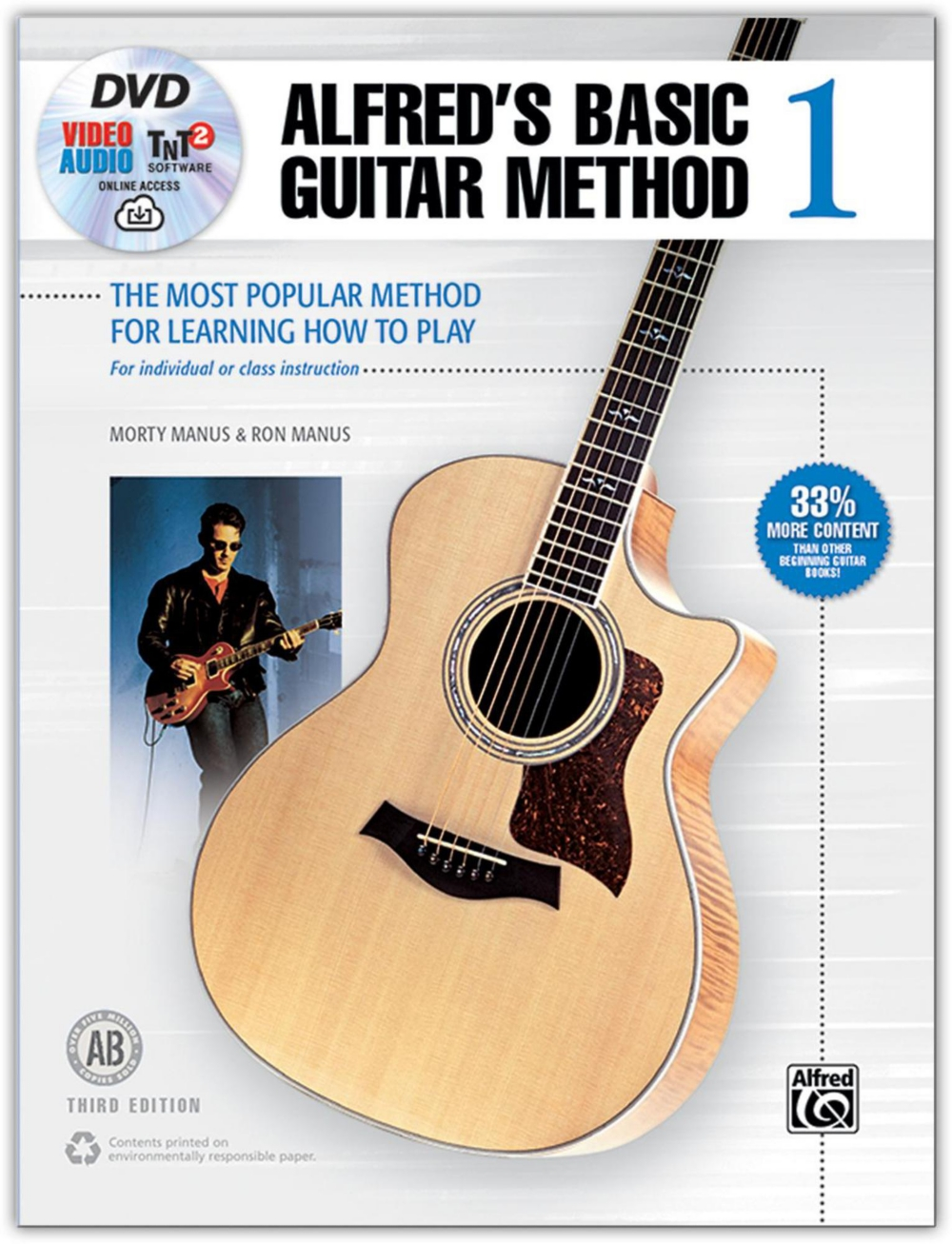 Alfred Alfred's Basic Guitar Method 1 (3rd Edition)-Book, DVD & Online Audio by Alfred Publishing