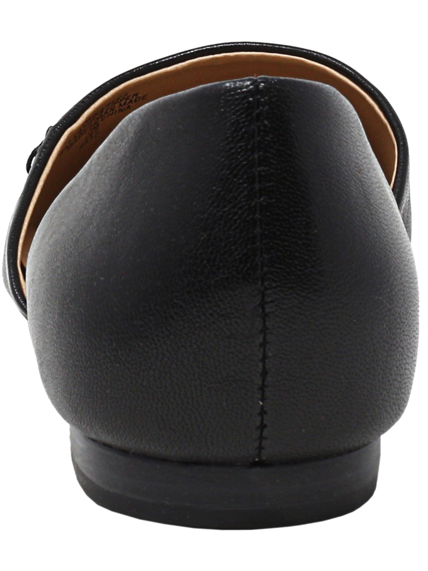 15fe433356e0b Tommy Hilfiger Women s Naree3 Leather Black Flat Shoe - 7M